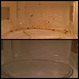 Microwave (BEFORE and AFTER)